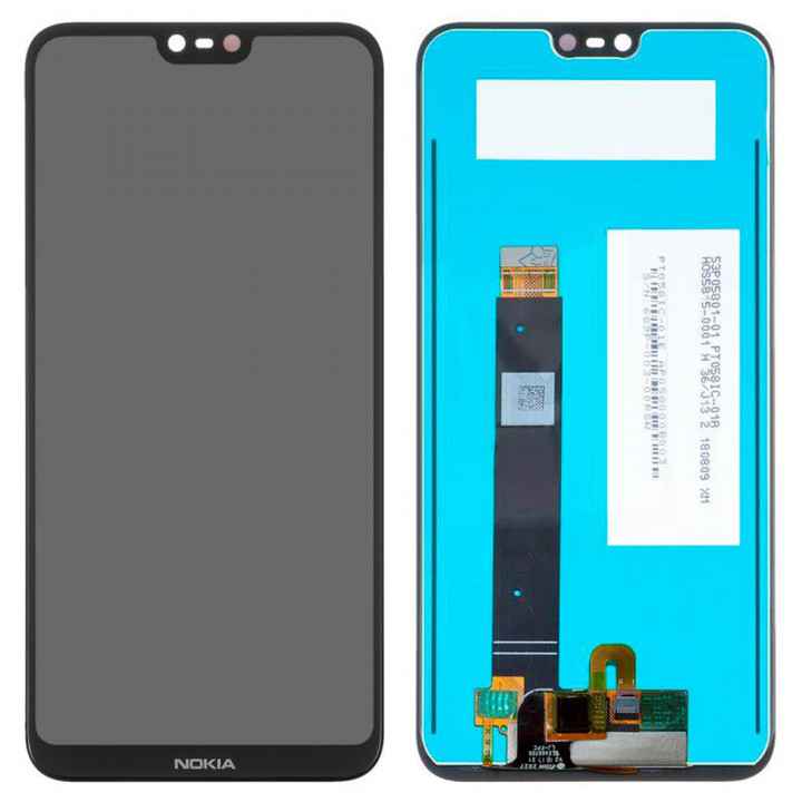 Дисплейный модуль (LCD дисплей + TOUCH SCREEN) для Nokia 6.1 Plus, Black