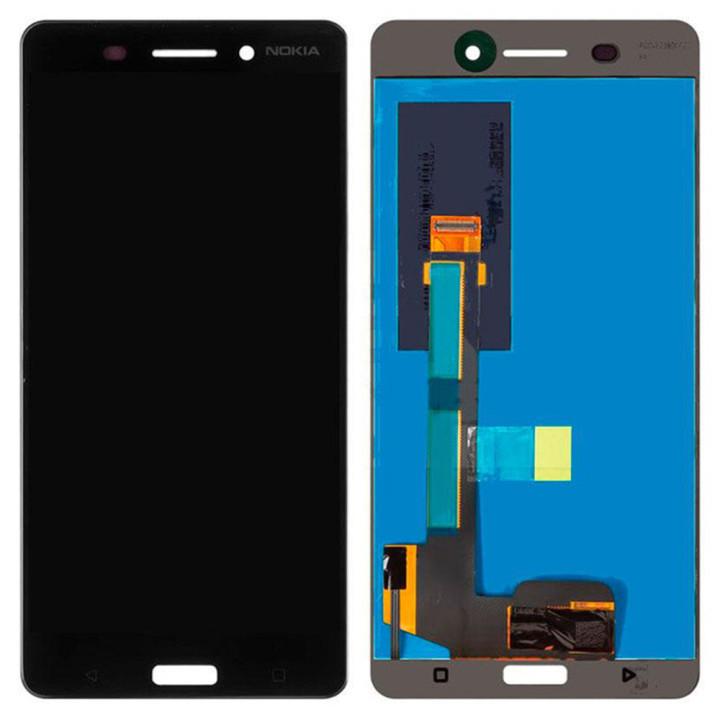 Дисплейный модуль (LCD Дисплей + touch screen) OEM для Nokia 6 Dual Sim, Black