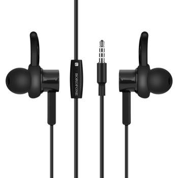 Вакуумні навушники-гарнітура Borofone BM5 з мікрофоном, Black