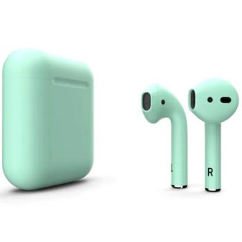 Bluetooth навушники-гарнітура TWS i12 Turquoise