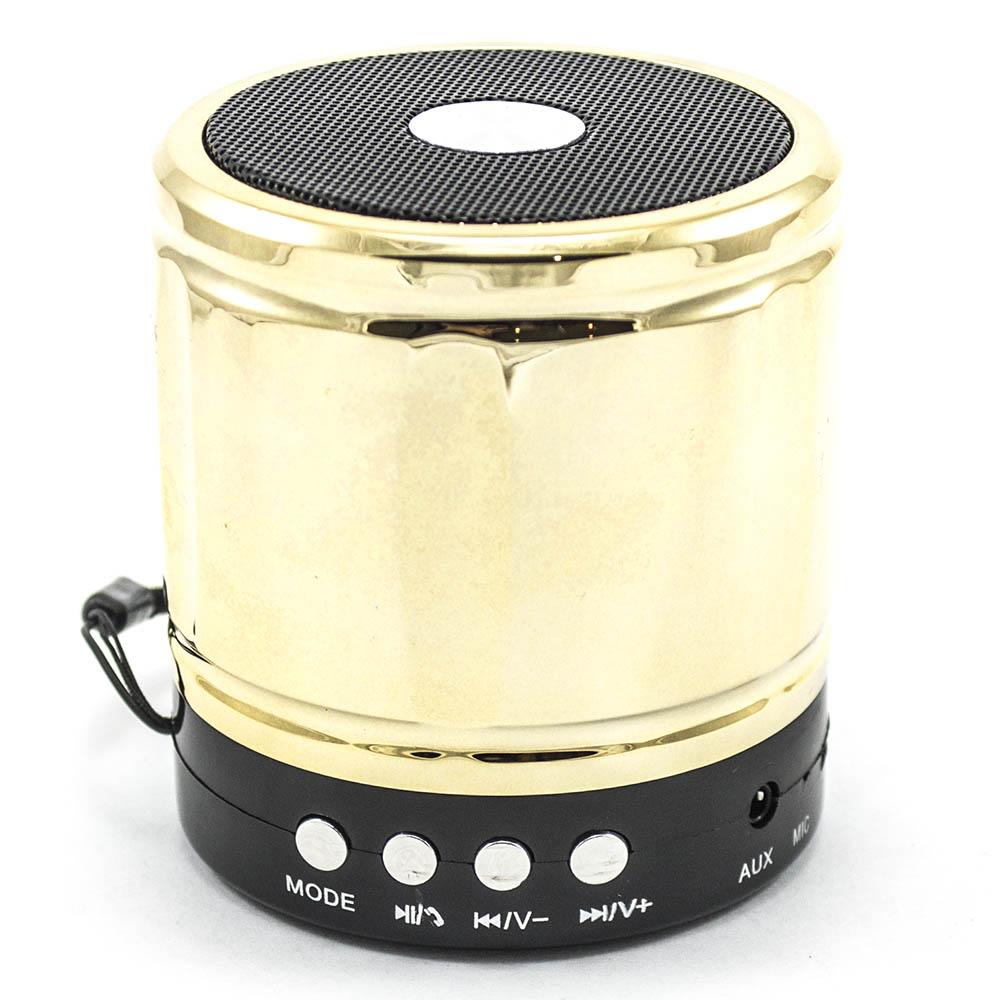 Портативная беспроводная Bluetooth колонка Mini Speaker BauTech YST-890 золотой