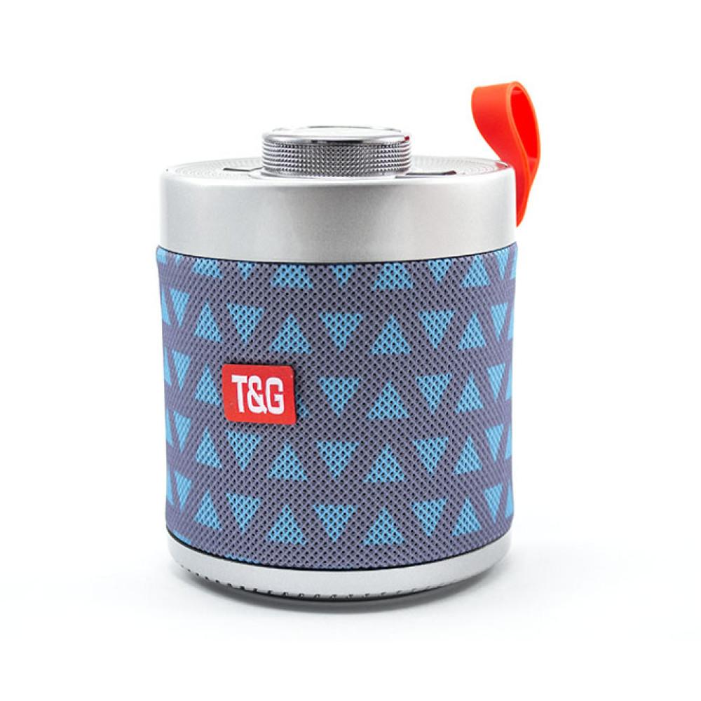 Портативная Bluetooth колонка T&G HF-Q3SE серебряный с зеленым