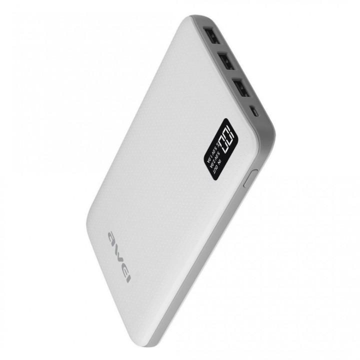 Портативная батарея Power bank Awei P56K 30000mAh, White