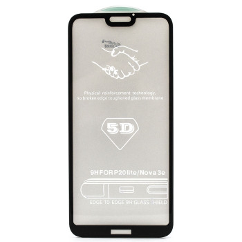Защитное стекло Full Screen Full Glue 5D Tempered Glass для Huawei P20 Lite, Black