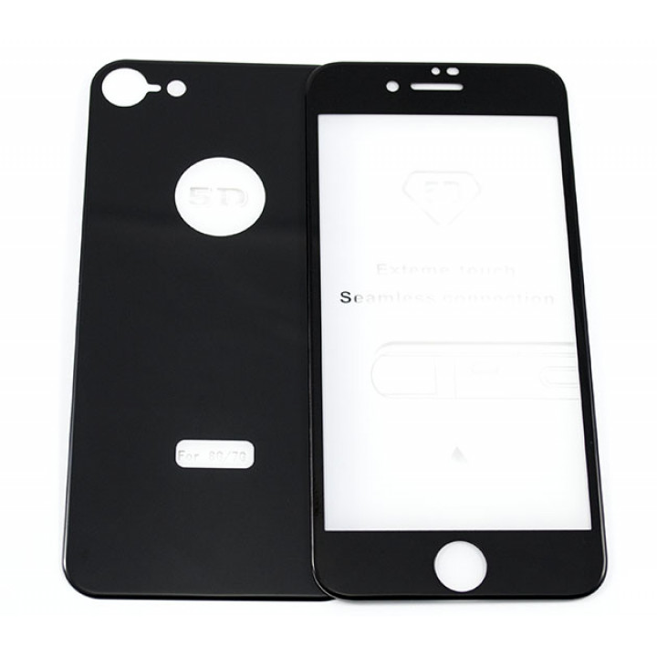 Защитное стекло 5D 2 in 1 для Apple iPhone 7 / iPhone 8 (перед + зад)
