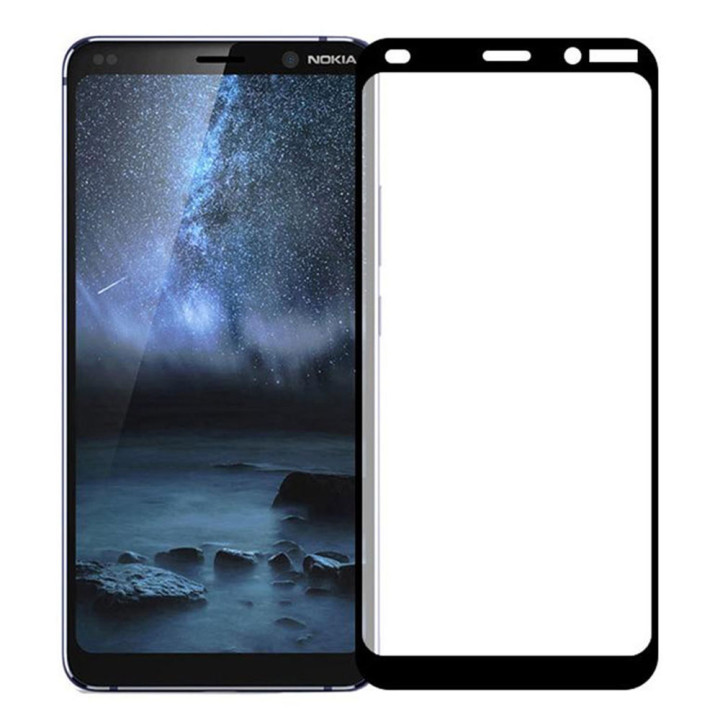 Защитное стекло Full Screen Full Glue 2,5D Tempered Glass для Nokia 9 Pureview, Black