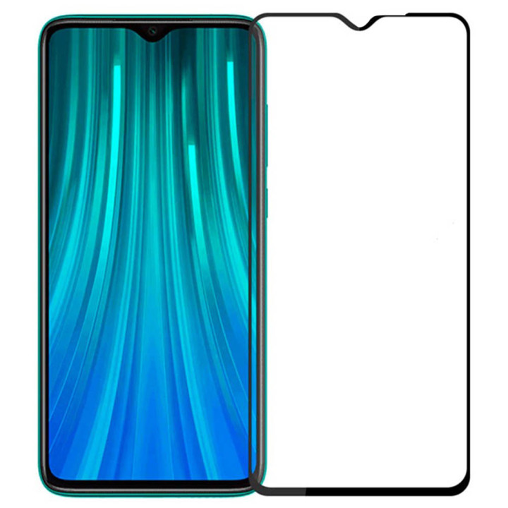 Защитное стекло Full Screen Full Glue 2,5D Tempered Glass для Xiaomi Redmi Note 8 Pro, Black