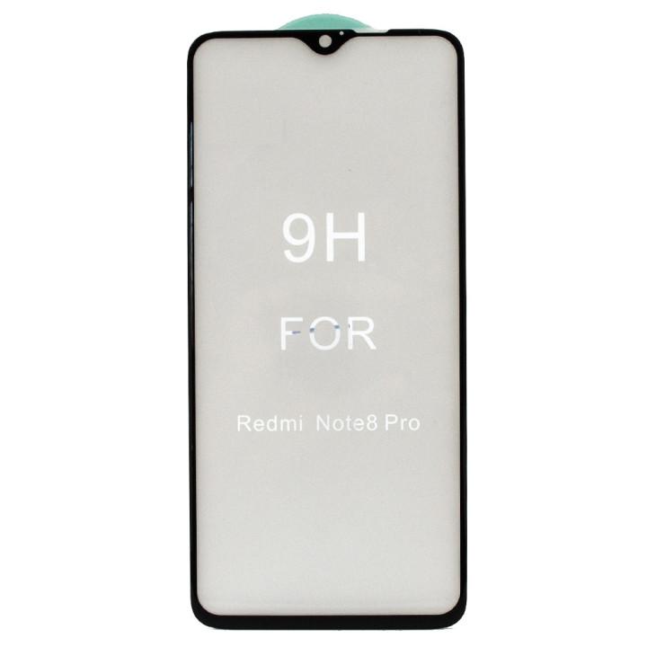 Защитное стекло Full Screen Full Glue 5D Tempered Glass для Xiaomi Redmi Note 8 Pro, Black