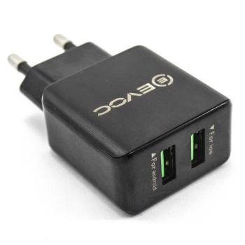 Сетевое зарядное устройство EVOC 3204M 2USB 2.4A, без кабеля