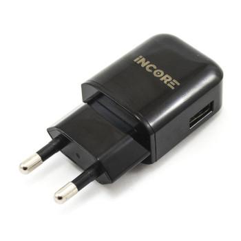 Сетевое зарядное устройство INCORE 3207A USB 1.0A, без кабеля