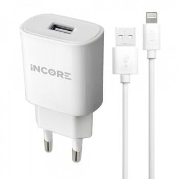 Сетевое зарядное устройство INCORE 4210D Lightning USB 2.0A White