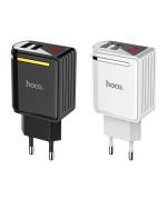 Мережевий зарядний пристрій Hoco C39А Enchanting 2 USB 2,4A, без кабеля