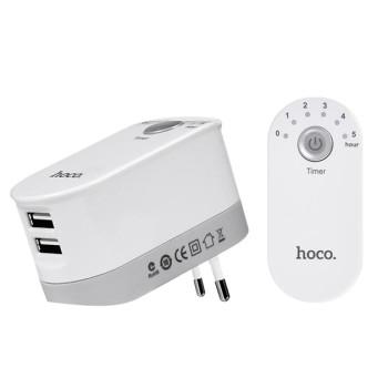 Сетевое зарядное устройство Hoco С16 Fixed Time 2 USB 2.4а (White)