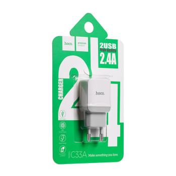 Сетевое Зарядное Устройство Hoco C33A Micro USB (White)