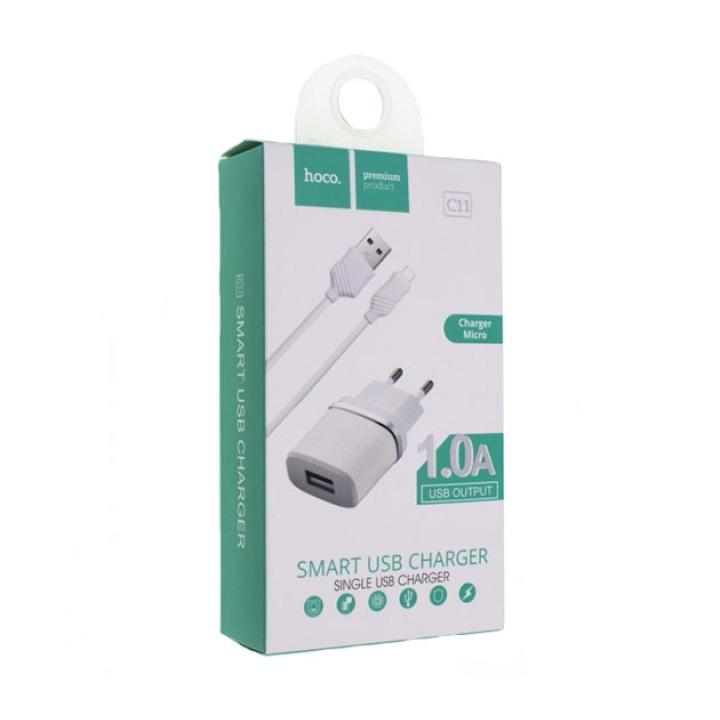 Зарядное устройство Micro USB Hoco C11 1A White
