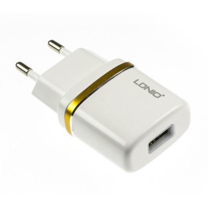 Зарядное устройство LDNIO DL-AC50 microUSB 1A , white