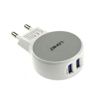 Сетевое Micro USB зарядное устройство LDNIO A2269 2.1A , white