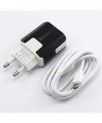 Мережевий зарядний пристрій MobiLand HZXD-064 QC 3.0 USB 3.1А, Micro USB 1м, Black