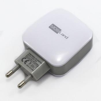 Мережевий зарядний пристрій MobiLand XD-044 3USB 2.4А, без кабеля