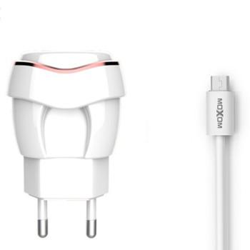 Сетевое Зарядное Устройство Moxom KH-35 Micro USB (White)