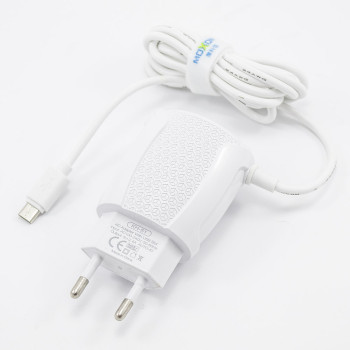 Сетевое зарядное устройство Moxom KH-51 2USB 2.4A micro USB 1м, White