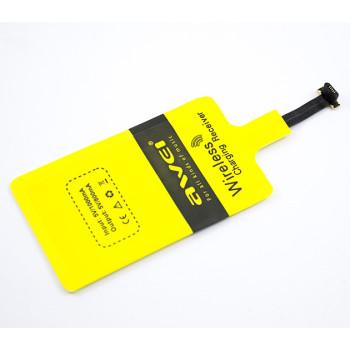QI приемник для беспроводной зарядки AWEI Micro USB, Android OS Yellow