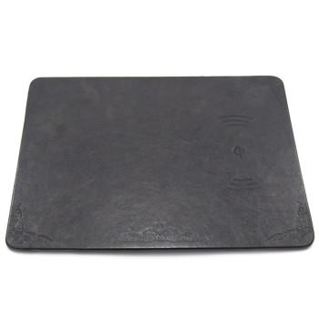 Безпровідний зарядний пристрій M30 + коврик для мишки 2 in 1, Black
